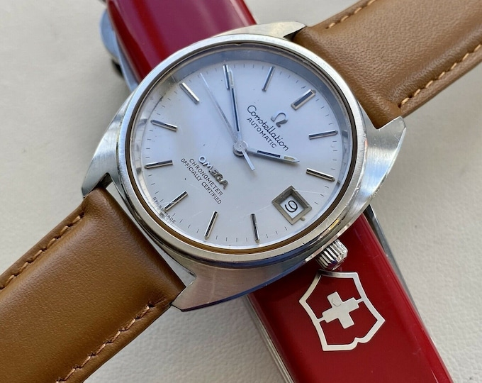 Omega Constellation Automatic vintage Steel Jumbo 36mm mens 1971 serviced May 2021 watch