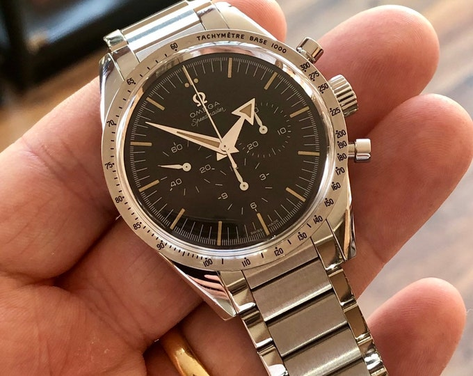 Omega Speedmaster Moonwatch Co-Axial Trilogy Chronometer 60th Anniversary mens New old stock Mechanical Hand Wining watch + Box