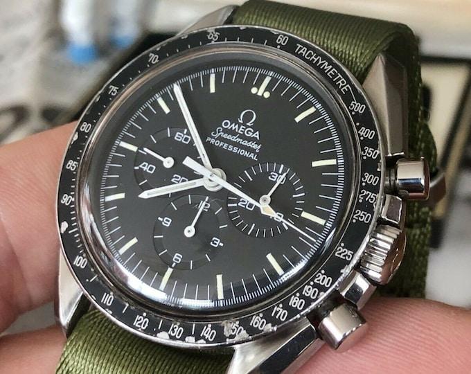Omega 1968 Vintage Speedmaster Black Step Dial 145.022 Calibre 861 Pre Moon Watch Moonwatch + Nato + Bracelet + Box