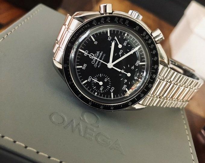 Omega Speedmaster Black Dial Men's reduced Automatic calibre 3510 Calibre 3220 47 Jewels watch Box + warranty card