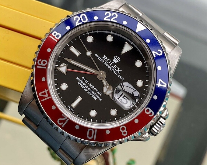 Rolex Pepsi GMT Master 16700 1998 Mens Steel Swiss watch Full set Box Papers Tag Serviced October 2020