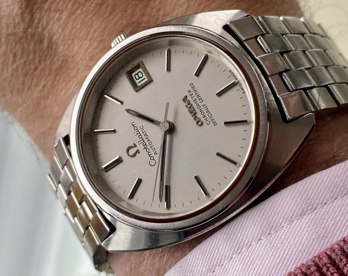 Omega Constellation Automatic 35mm Grey dial Bracelet Mens Vintage 1970s watch