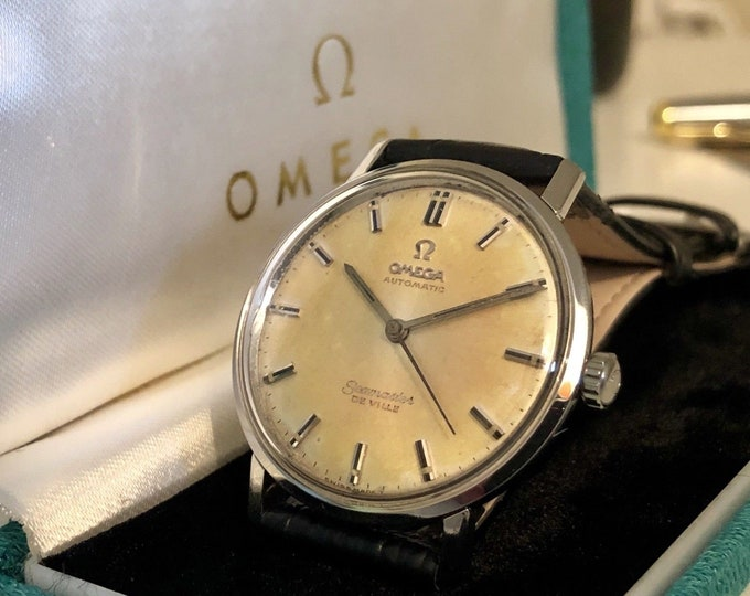 Omega Seamaster De Ville vintage watch cal 552 Mechanical Automatic Stainless Steel with Date 1960s Men used second hand +Box