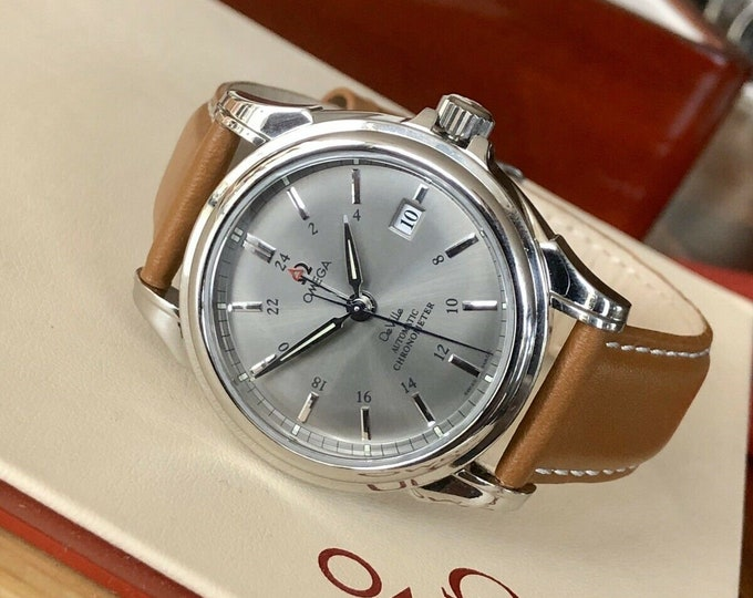 Omega DeVille GMT 48 hrs Mens watch Co-Axial George Daniels Automatic 4533.40.00 Box | Full Set | Grey Dial 38.7mm | Fast Ship | 100m WR