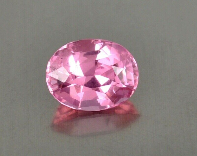 4.30Ct Flawless Pink Spinel Oval cut Gemstone 10mm x 8mm like fancy pink diamond - origin Pamair Mountains, Pakistan near the Kashmir border