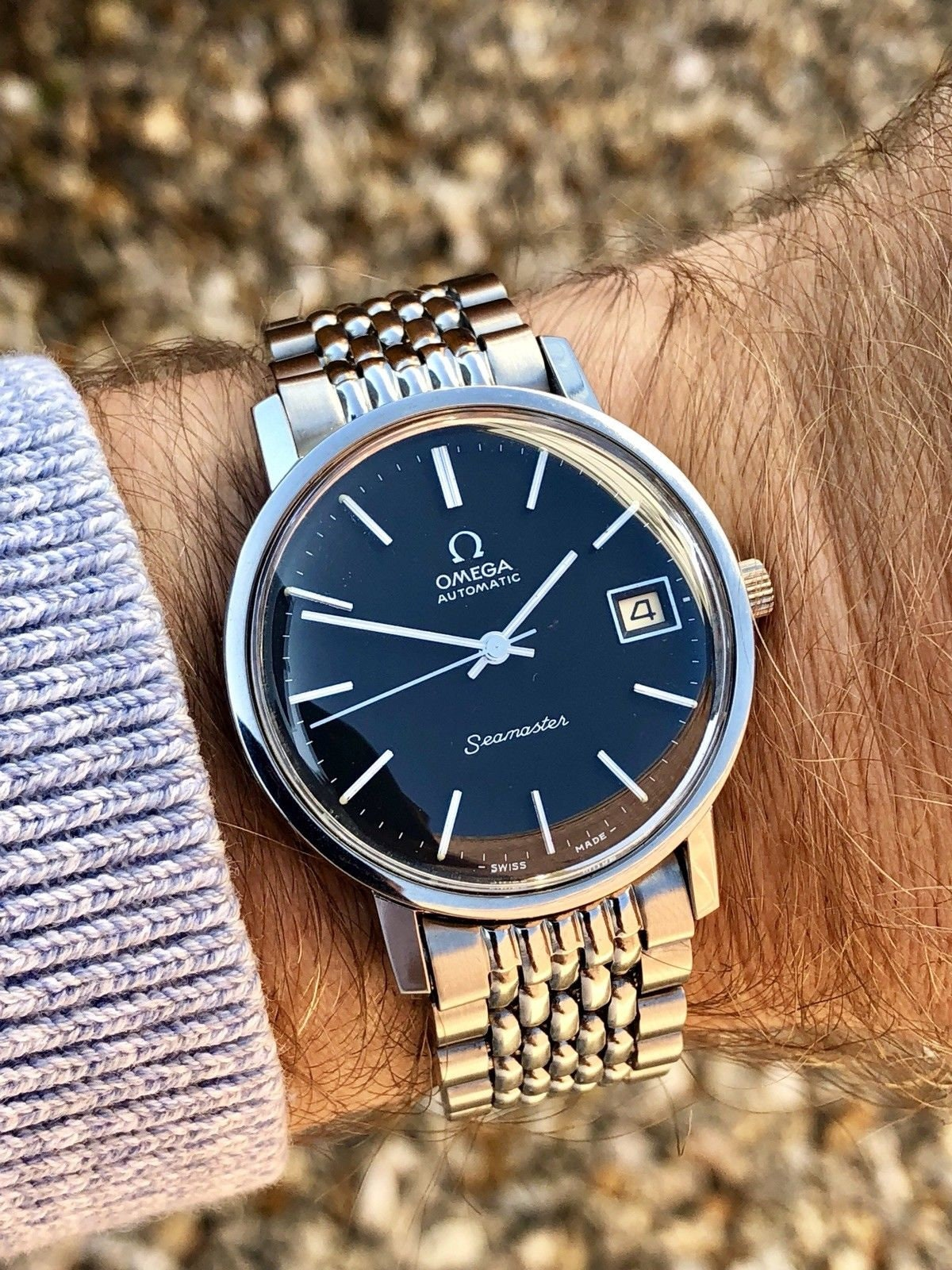 Omega Seamaster CAL 1012 Black Dial 1970s vintage watch