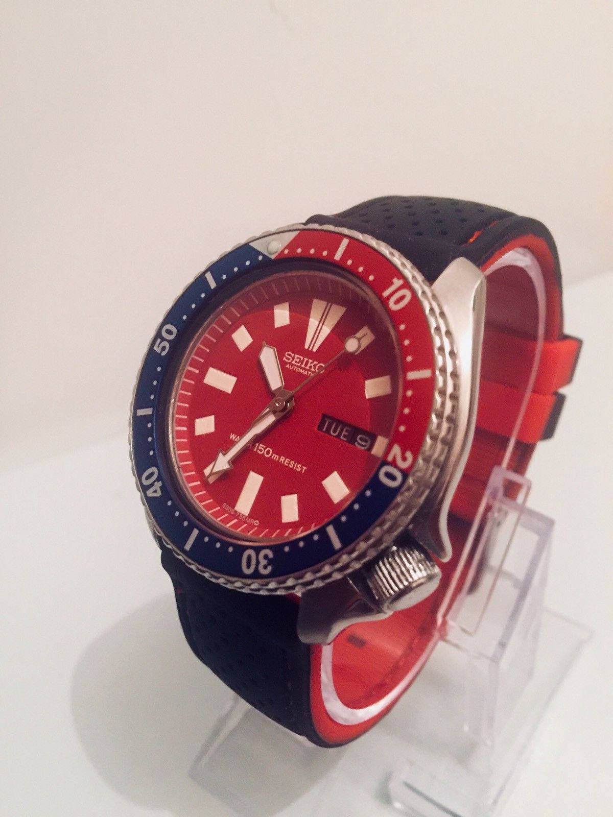 aed8d2534e1f2 SEIKO 150M Scuba Diver Day Date Automatic mens watch 6309-7290 ...