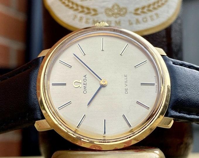 Omega Used Mechanical De Ville Gold Vintage Mens serviced September 2021 watch