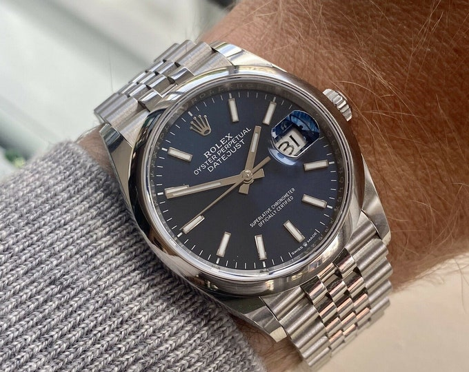 Rolex DateJust 36mm Blue Dial Dial Stainless Jubilee M126200 Men's New watch