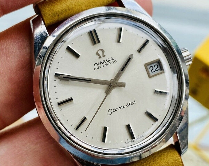Omega Seamaster Date Automatic Steel Mens Vintage 1972 second hand used watch