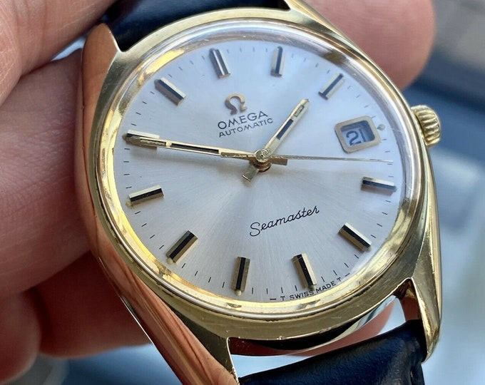 Omega Seamaster Beefy Lug 1971 Gold Plated Mens Second Hand Used Swiss Made Automatic Serviced Vintage  watch