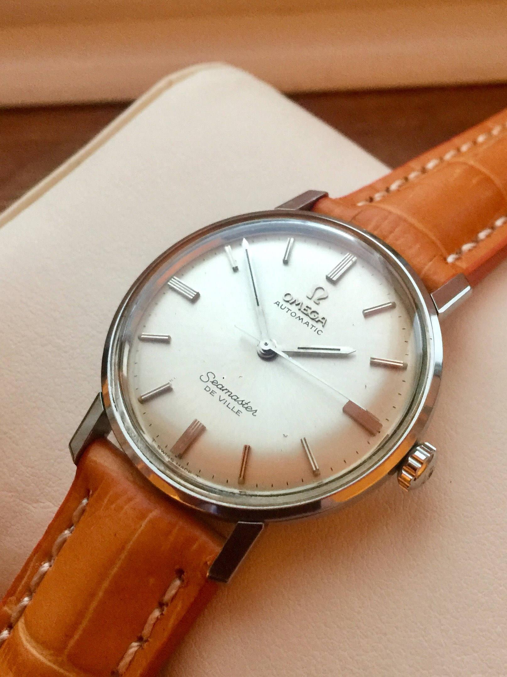 9f9fd132dff74 Vintage Omega Seamaster De Ville Mens watch Automatic watch s s 1970s + Box