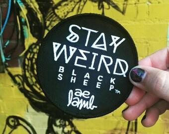 Stay Weird Black Sheep Patch