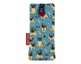 4acac1f4a150 Selina-Jayne Pug Dogs Limited Edition Designer Soft Fabric Glasses Case
