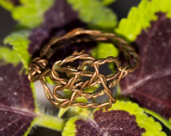 Made to order Copper/Silver Celtic knot ring