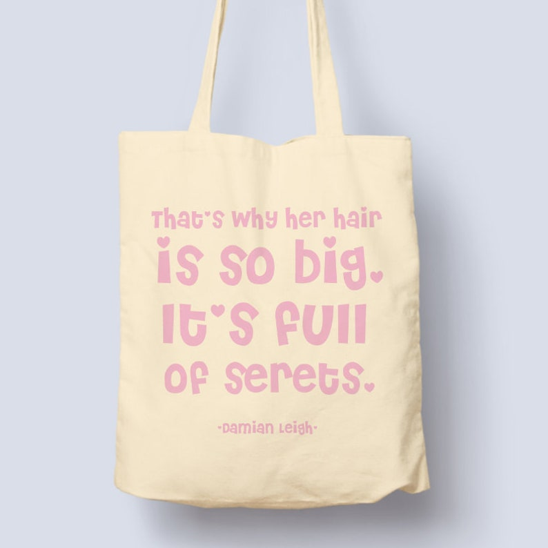 Mean Girls Hair Full Of Secrets Damian Leigh Tote Quote Etsy