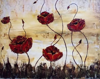 Poppies original painting