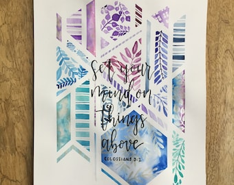 Geometric Watercolor - Customizable