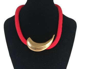 "Necklace ""Red Moon """