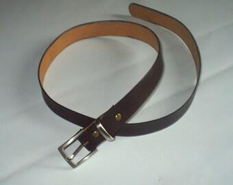 City in genuine cowhide leather belt.