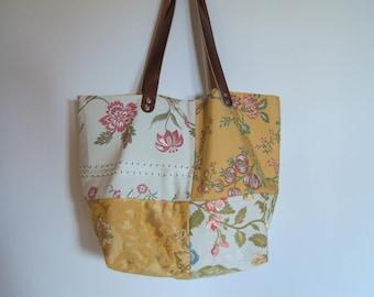Handbag, chic Tote assembled textile
