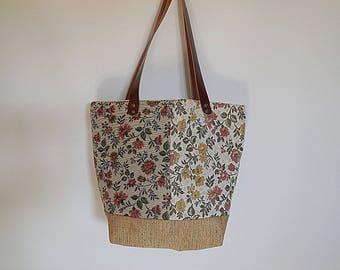 """Pattern """"Ecouen"""" chic Tote purse"""