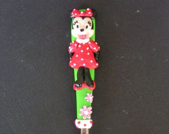 Spoon decorated with mini polymer clay