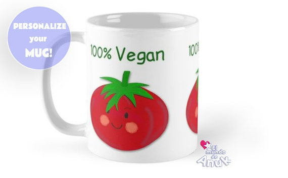 Coffee Mug Tomato Red Birthday Gift Vegan Veggie