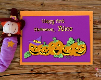 Cute Halloween Cards, Baby First Halloween, Pumpkin Party, Little Pumpkin First Birthday, Trick or Treat, Fall Baby Shower Gift, Spooky Baby