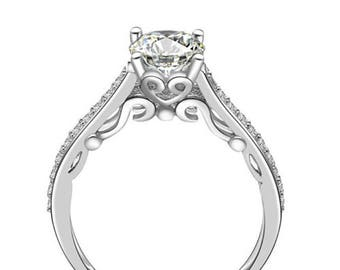 925 Sterling Silver Solitaire Cz Wedding Band Engagement Ring Size 3-12 Ss043