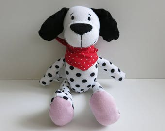Hand-sewn stuffed for children//Dalmatian//gift for children//affectionate stuffed with sheep wool and wool