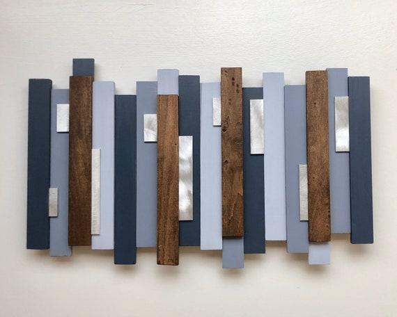 Wood wall art Modern wood art Abstract wood art Rustic | Etsy