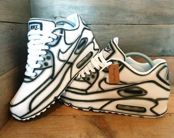 Nike Air max 90 cartoon custom shoes