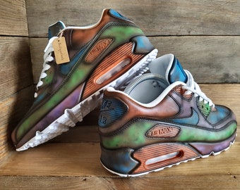 8877348fc952 Nike Air Max 90 Custom Painted Distressed Vintage