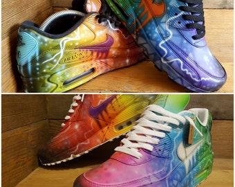 0a97645e7bca14 Nike Air Max 90 Custom Painted Colour Graffiti