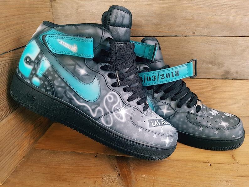 Nike Y29wedih Personalisierte 1 Force Custom Voll Air Bemalt