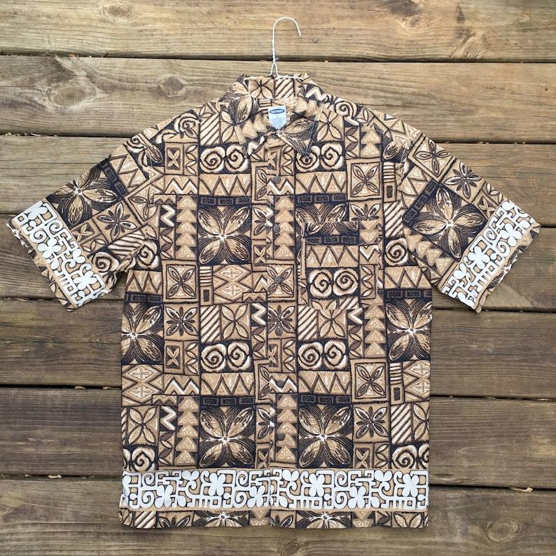 05de6cb7 Polynesian Hawaiian Shirt Men's Small Luau Vintage   Etsy