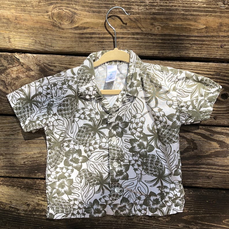 ef4df977 12-18 Months Hawaiian Shirt Pineapple Luau Old Navy Kids | Etsy