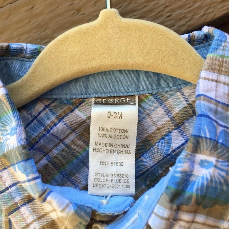 7600b3b0 Newborn Hawaiian Shirt Infant Tiki 0M 1M 2M 3M Luau | Etsy