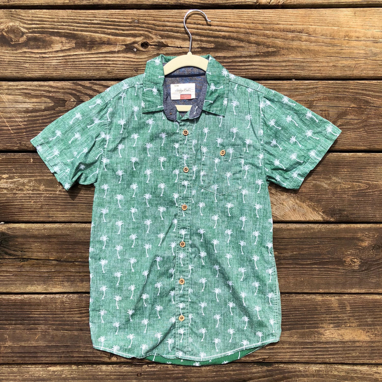 7acce596 Kids 8 Hawaiian Shirt Luau Palms Palm Trees Reverse Print | Etsy