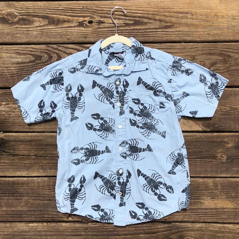 79ee218459 Kids 8 Hawaiian Shirt Gymboree Lobster Crawfish Aloha