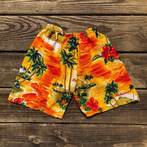 Mens Hawaiian Shorts Hawaii Swimming Shorts Summer Beach Tree Print