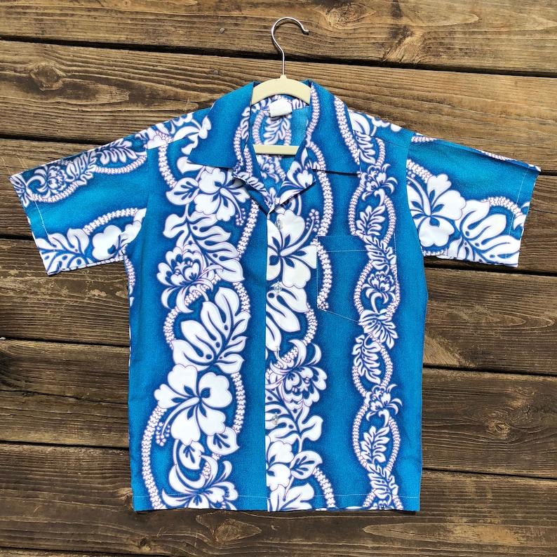 700d61a1 Kids 12 Royal Creations Hawaiian Shirt Luau Tiki Vintage   Etsy