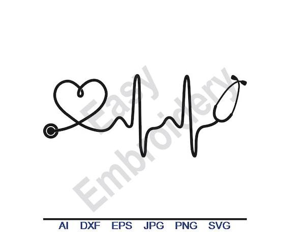 Doctor Nurse Ekg Paramedic Heart Beat Svg Dxf Eps Png Etsy