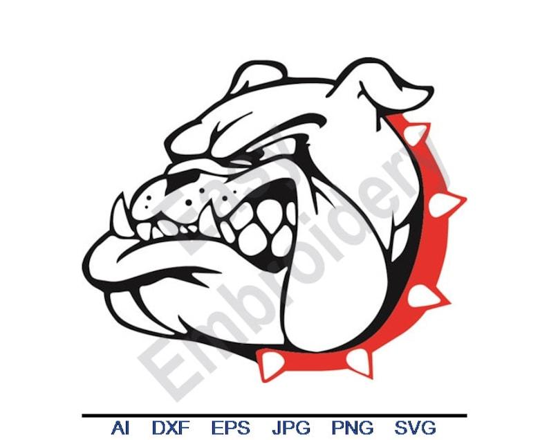 Bulldog Head Svg Dxf Eps Png Jpg Vector Art Clipart Etsy