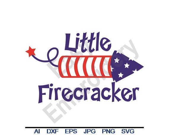 Little Firecracker Svg Dxf Eps Png Jpg Vector Art Etsy
