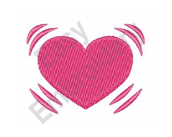 Beating Heart - Machine Embroidery Design