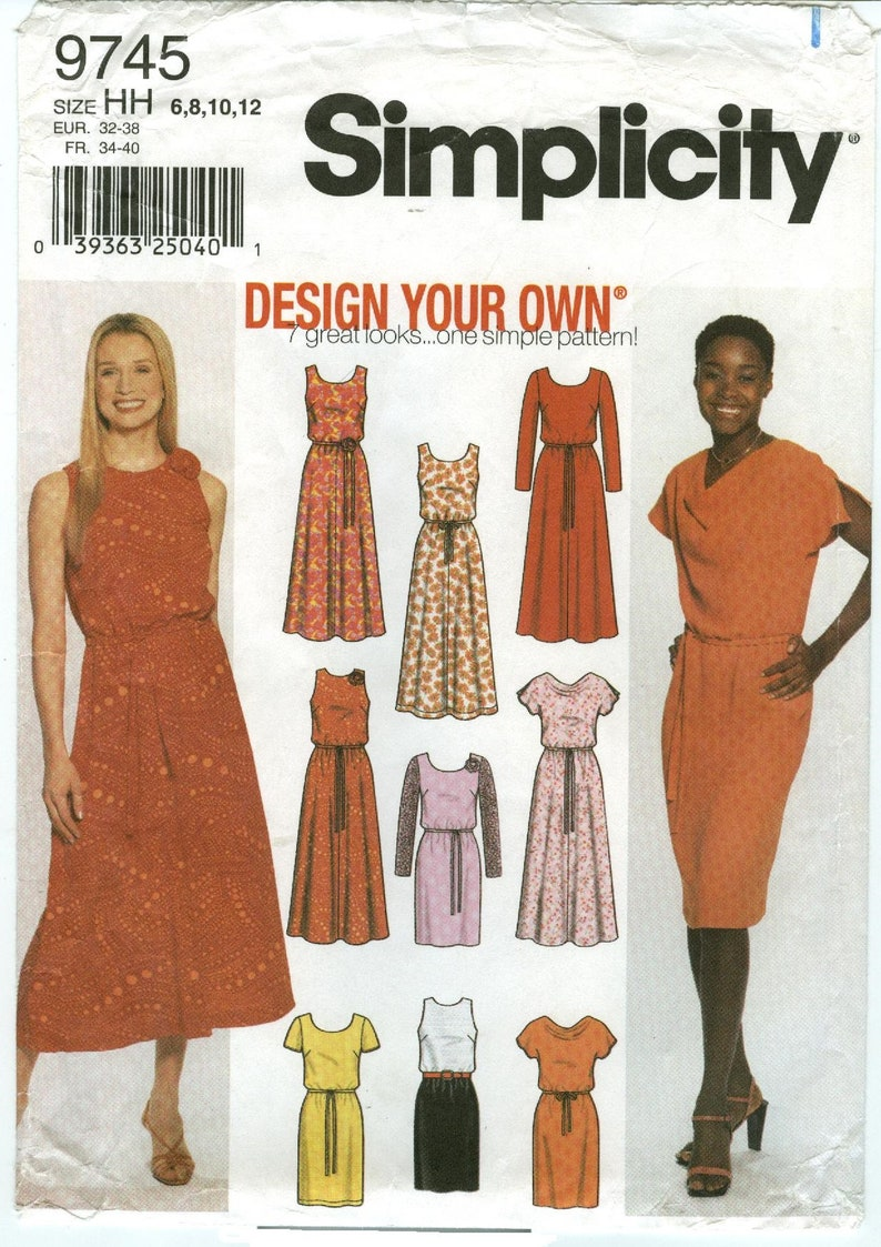 9745 Simplicity  Misses Design Your Own Dress with Slim and image 0