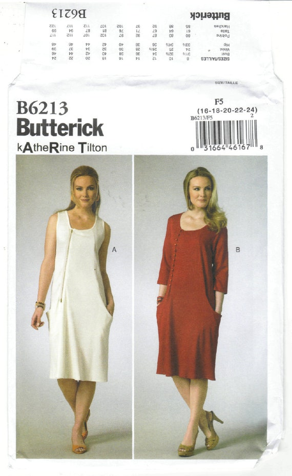 Butterick Patterns 6213 B5,Misses Jumper and Dress,Sizes 8-10-12-14-16