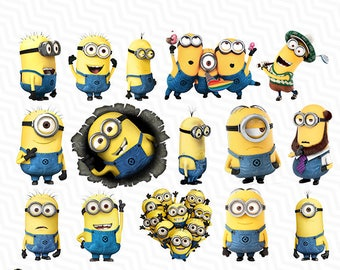 Minions, Minions PNG, Minions Clipart, Printable Files, Birthday Party, PNG, Instant Download, Scrapbook, Birthday Party Clipart, VC-010